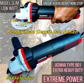 Promo Mesin Gerinda Tangan Angle Grinder 4 Inch Uchiha Powerfull