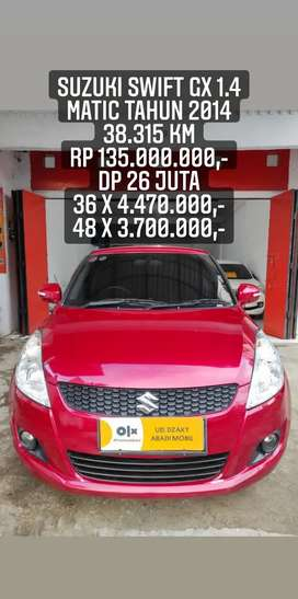 Suzuki Swift GX 1.4 Matic 2014 ( Mulus, Terawat & Siap Pakai )