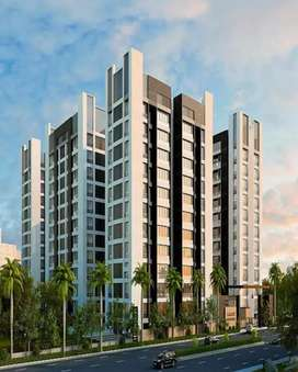 3BHK Semi Furnished Flat for sell in 63 lacs at Adajan.