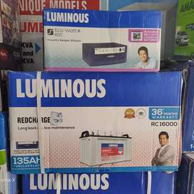 New Luminous inverter + Luminous Tubular Battery Bajaj card accepted