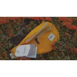 HIGHTY Yellow Nylon Waist Bag
