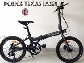 Cicilan Proses Cepat Sepeda Lipat Police Texas Laser