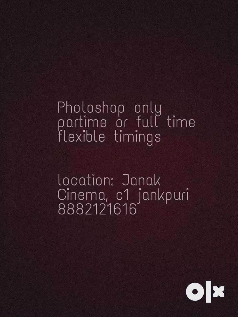 Girl for Photoshop and illustrator designer in uttamnagar west 0