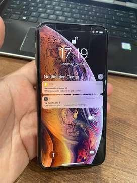 iPhone XS Gold 256 GB Gold Fullset Original Mulus