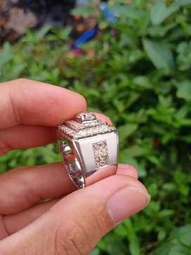 Cincin perak full berlian