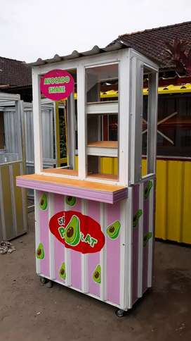 Gerobak kontainer / Booth container