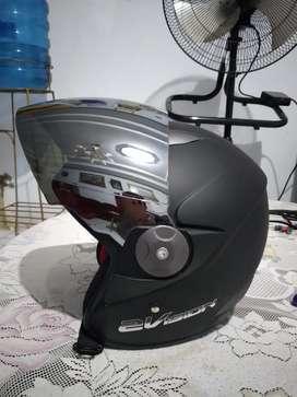 Helm KYT 2 vision hitam doff