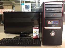 "CPu core2duo ddr3 Lcd 19"" wide bergaransi 1 bulan"