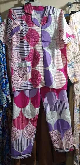 Baju tidur piyama bahan katun rayon premium tebal