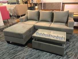sofa L puff , murah dan berkualitas