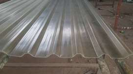 Fiberglass ribbed roof and wall light sheets