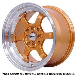 TOKO VELG MOBIL TOKYO RIFU HSR R15X78 H8X100-114,3 ET3320 GOLD