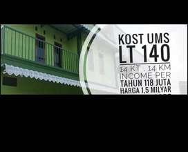 Dijual rumah kost UMS 280 m