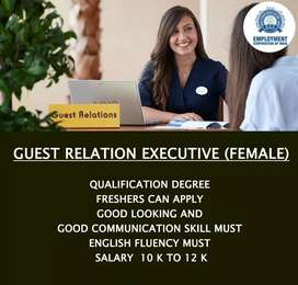 GUEST RELATION EXECUTIVE (FEMALE)