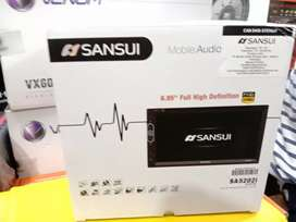 DobelDin Sansui DVD layar sentuh 6.95 inch full HD Autolink SA-5202i