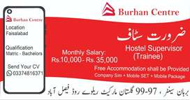 Hostel Manager in Faisalabad