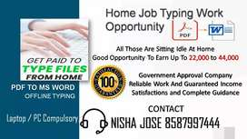 Typing Job Secure Payment Data Entry Part Time