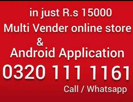 multivender online store ecommerce website and android application