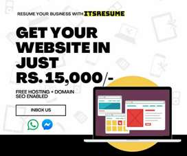 Get your Website in just Rs.15,000/-