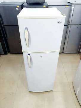 A4 LG double door refrigerator with one year warranty on compressor