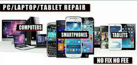 Laptop, mobile repairing hardware or software