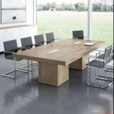 Meja Meeting Kece Finishing HPL Untuk Kantor Kekinian