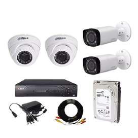 paket 4 camera cctv brand dahua hdcvi