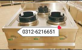 New  stove table 3 burners SS non magnet