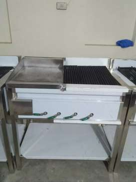 Hotplate with grill 24*36 stainless steel