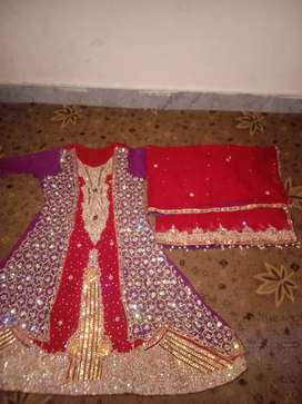 Bridle lehnga only used for 4 hours.