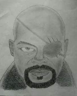 Agent Fury Pencil Sketch