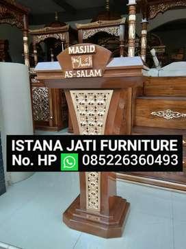 Mimbar kayu jati { musholla & masjid}