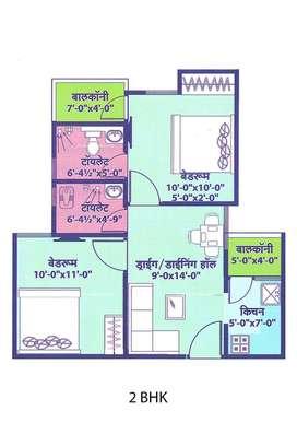 617sq.ft 2bhk Flat For Sell in Vaishali Utsav At Vaishali Nagar