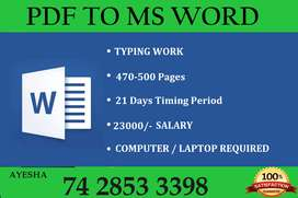 Reliable Income With Typing Work At Home