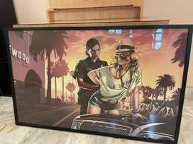 Gta poster with black frame