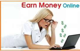Part time online work from home with smartphone