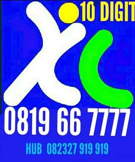 XL 10 digit nomor super langka kwartet urut 667777