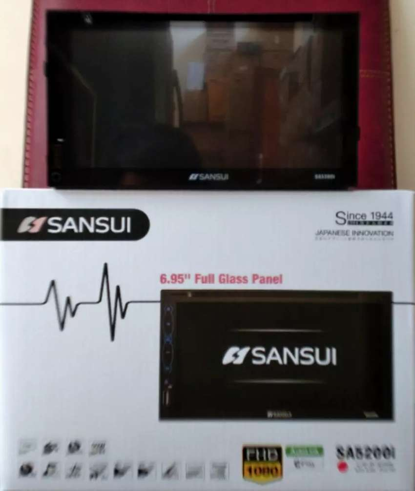 TV 2 din deckless sansui, autolink,usb,mp4,bluetooth Dan radio 0
