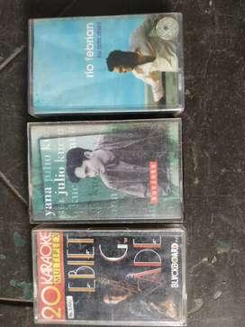 3 cassette Ebiet G Ade, RioFebrian, YanaJulio