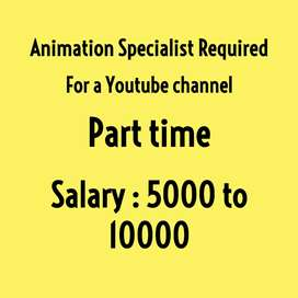 Animation specialist required for a Youtube channel