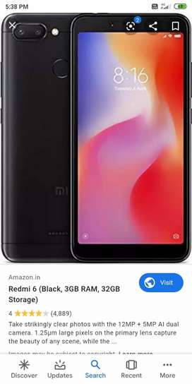 Redmi 6 3gb 32gb