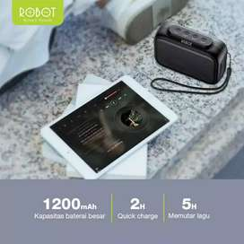 Robot speaker performace handal bluetooth