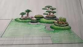 Jasa pembuatan taman dan kolam hias