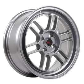Paket Velg Ring 15 HSR Kumamoto R15x7 ET35 + Ban 195 50 R15 651Sport