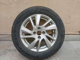 15 inch Alloy original with used MRF 185 65 R15 tyre