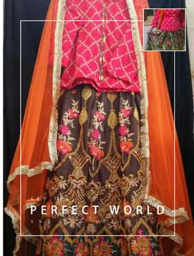 Stylish silk fancy embroidery lehenga