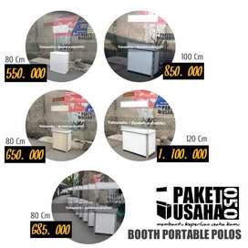 Booth portable, container, gerobak, alumunium termurah