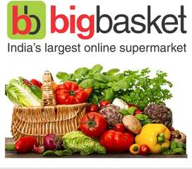 Big Basket Delivery Boys Fix salary 13000 + 35 Orders + 1500 Petrol