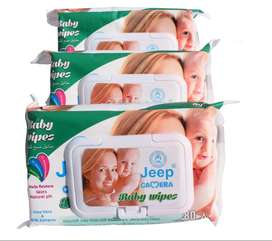 Pack Of 3 - Jeep Camera Baby wipes With Aloe Vera & Milk Extract