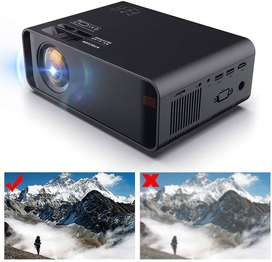 Portable HD LED Projector 1080P Support (HDMI USB VGA/Headphone AV KTV